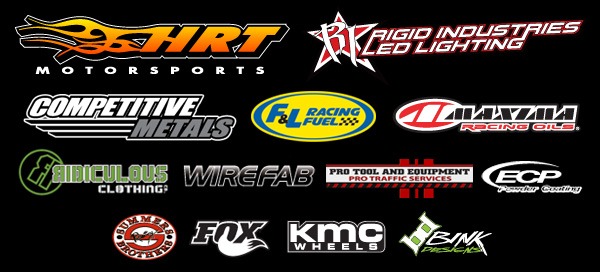HRT Motorsports, Rigid Industries, Competitive Metals, F&L Racing Fuels, Maxima Racing Oils