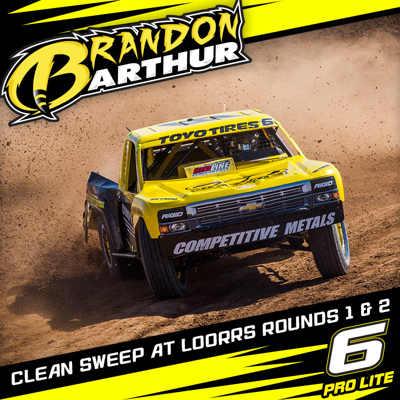 Brandon Arthur Starts LOORRS Season With Clean Sweep Of Rounds 1 And 2