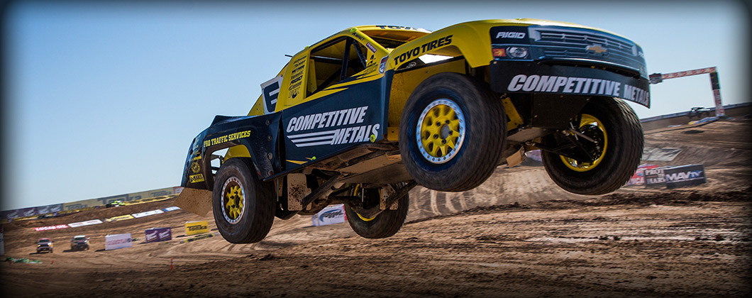 Brandon Arthur Airborne, Off Road Jump, Bink Designs, Competitive Metals, Toyo Tires