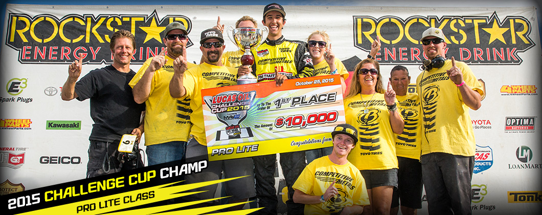 Brandon Arthur, 2015 Pro Lite Challenge Cup Champion, Lucas Oil Off Road