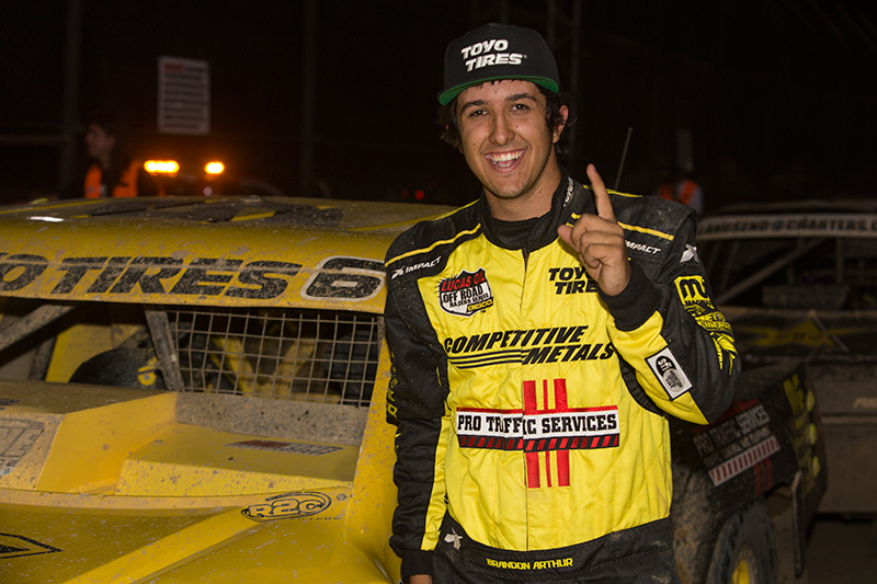 Brandon Arthur Wins Round 10 Pro Lite at Lucas Oil Off Road Racing Series
