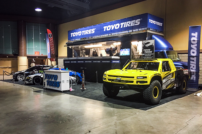 Toyo Tires Booth, Long Beach Grand Prix, Brandon Arthur