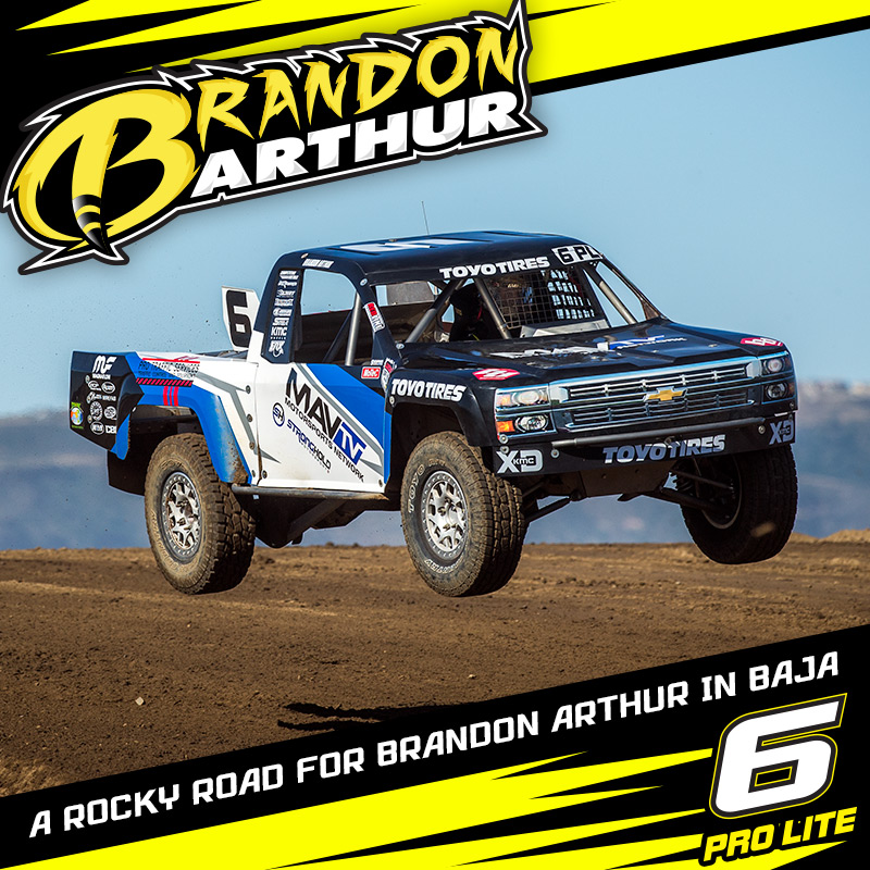 A Rocky Road For Brandon Arthur In Baja