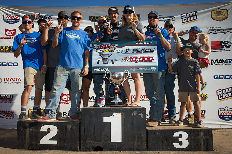 Brandon Arthur, 2017 Lucas Oil Off Road Pro Lite Challenge Cup Champion, MAVTV, Stronghold Motorsports, Toyo Tires, KMC Wheels, Bink Designs